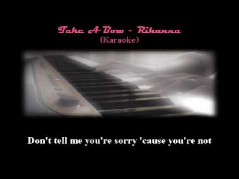 Rihanna's Take A Bow - Karaoke minus One back-up Piano Only video