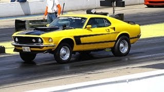 '69 MUSTANG MACH 1 RUNS 12.95 @ 103.34 AT BYRON TEST n TUNE