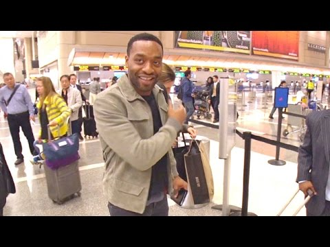 EXCLUSIVE - Chiwetel Ejiofor Asked About Oscars Boycott At LAX