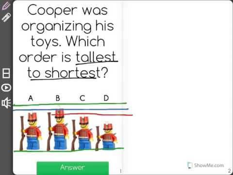 Ordering Objects by Length Md.1-1.0 Ordering Lengths