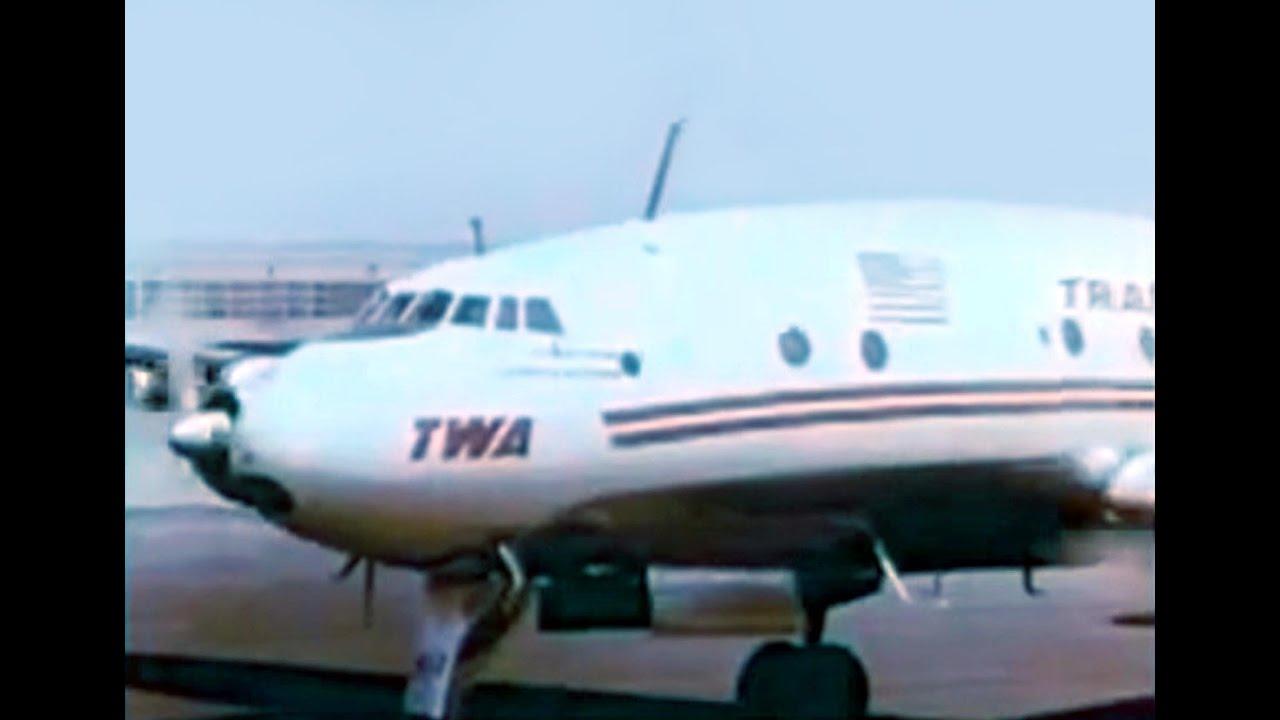 twa l-749 constellation  u0026 united cv-340 - 1955