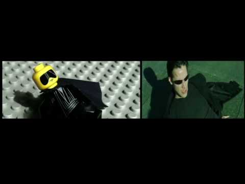Lego Matrix Trinity (super slow-mo comparison) Cool!