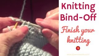How To Finish a Knit: Knitting Bind Off