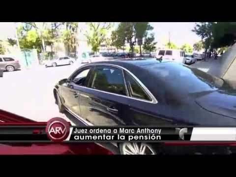 Juez ordena a Marc Anthony aumentar la pensión. Al Rojo Vivo (VIDEO)
