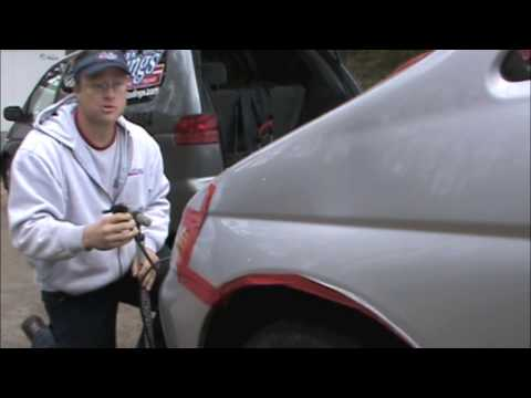 Paintless Dent Repair Tricks - Bicycle Pump