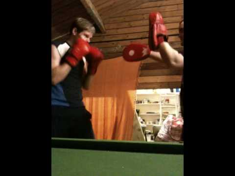 MMA Pad Training different combos - with Danny Edwards Image 1