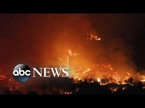 New California Wildfires Displace Hundreds