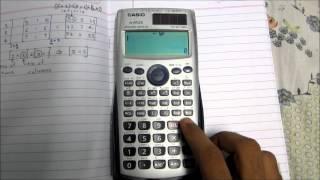 Matrix multiplication using calculator (addition subtraction multiplication)