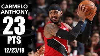 Carmelo Anthony scores 23 points in Pelicans vs. Trail Blazers | 2019-20 NBA Highlights