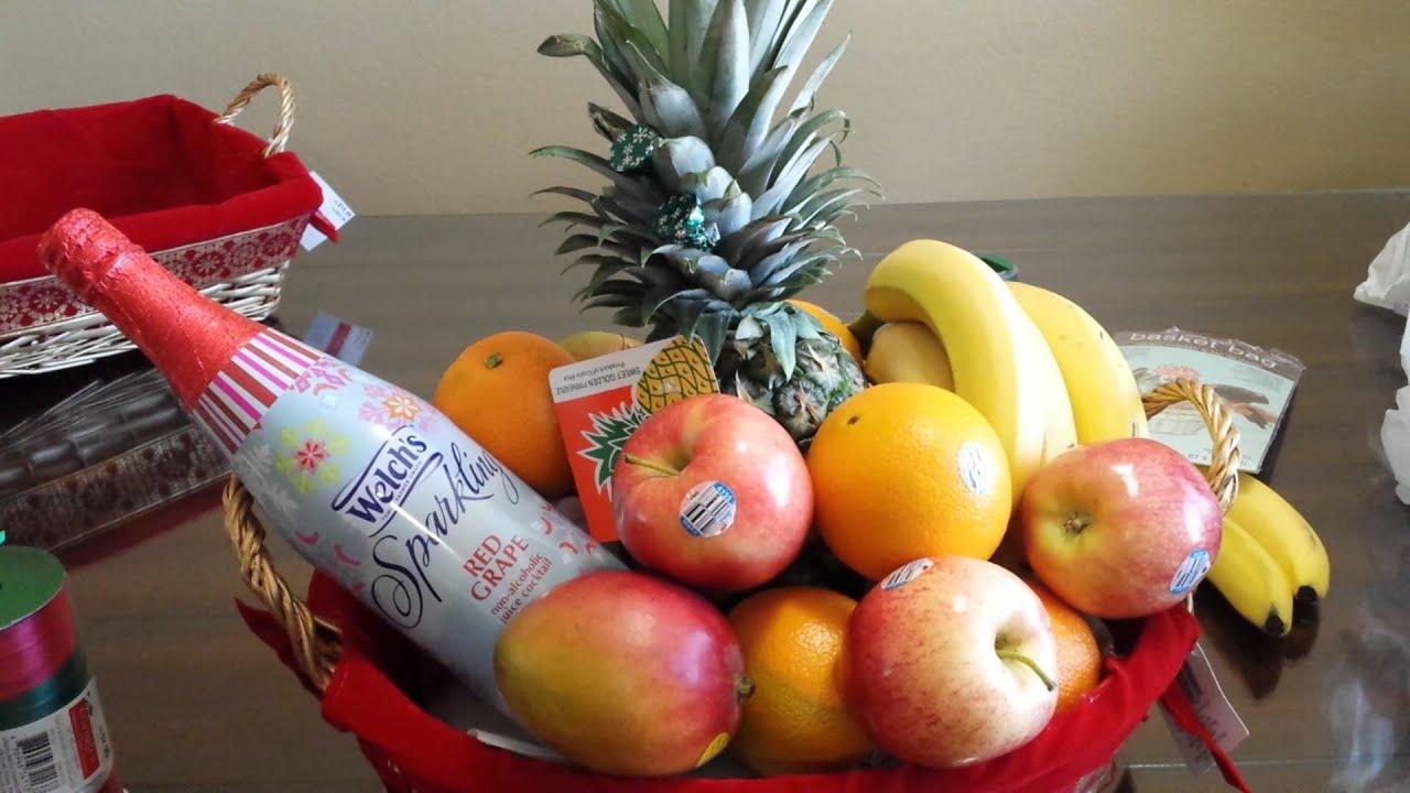Como decorar una canasta de frutas YouTube -> Decorar Frutas Simples