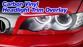 DECAL WERKS - Carbon Vinyl Headlight Trim Overlay for BMW