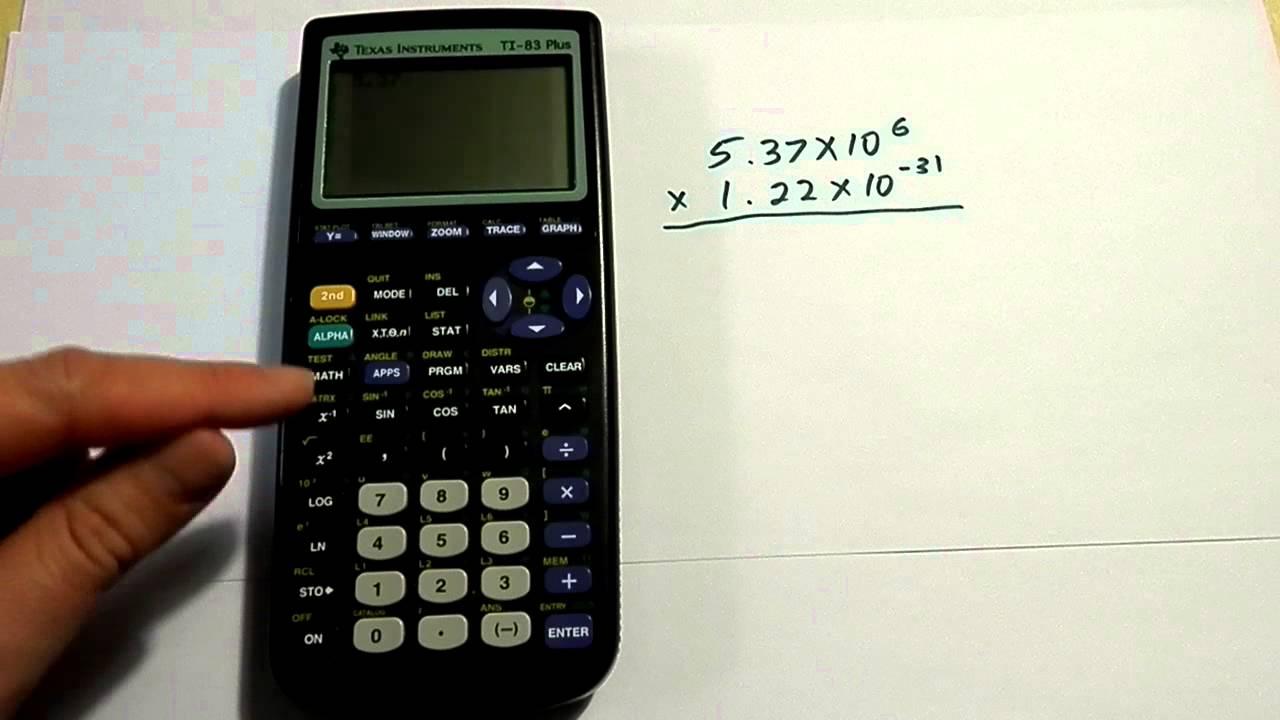 How to do calculator notation