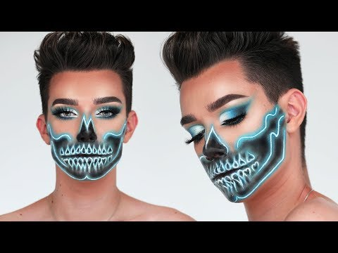 download lagu Neon Skull Halloween Makeup Tutorial gratis