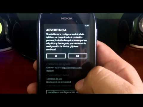 Restauración de fabrica en movil windows phone mango