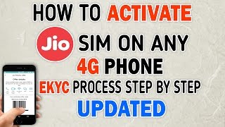 Live Activation(Updated) - How To Activate JIO Sim On Any 4G Phone With E-KYC Process(GUIDE)