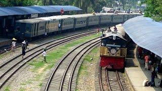 Chottola Express Train Crossing Kalni Express train at Airport Railway Station
