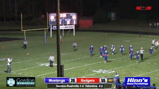 Gordon-Rushville Football vs Valentine 2018
