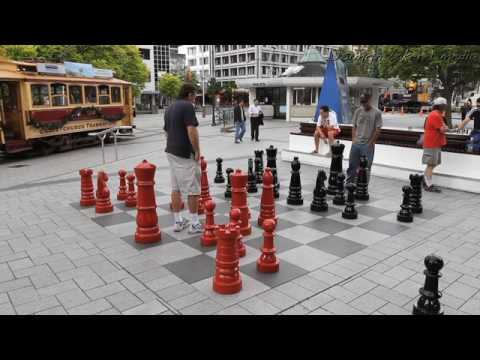 Chess in Cathedral Square, Christchurch