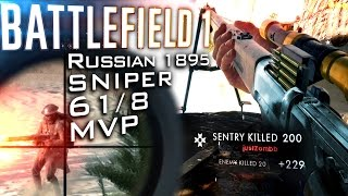 SUEZ SNIPER MVP | BATTLEFIELD 1: Russian 1895 Rifle  61/8 - PC Gameplay [60fps]