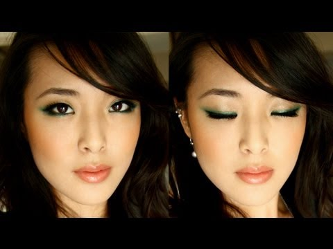 St. Patrick's Day: Green Winged Eyeshadow Tutorial (plus Cherry)
