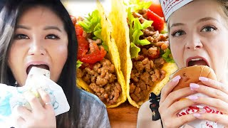 Letting The Person In Front of Us Decide What We Eat ft. Hyunee Eats & YB Chang | Kelsey Impicciche