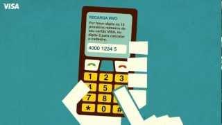 Cadastro para recarga de celular - Visa e Vivo