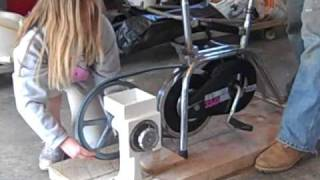 Pedal Power Wheat Grinder