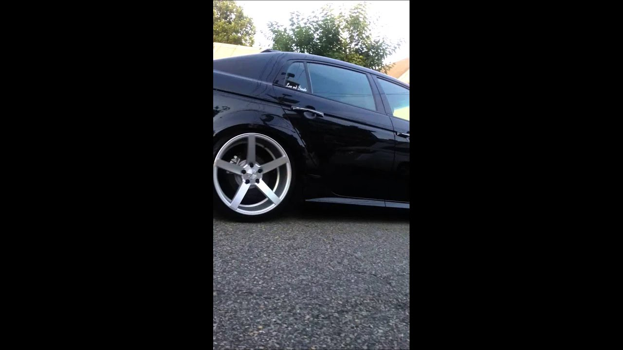 Acura tl with vossen cv3 19x10 all around - YouTube