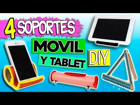 SOPORTES Para MÓVIL Y TABLET Caseros * 4 MODELOS Muy Fáciles