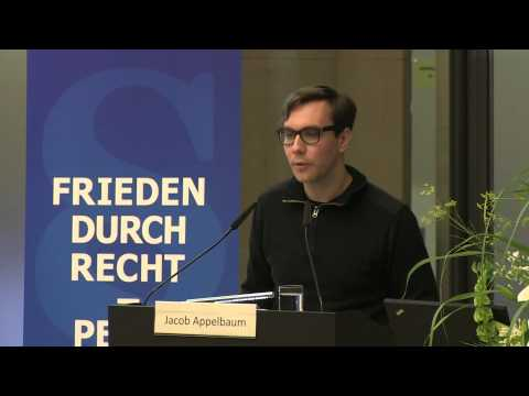 Whistleblower Award - Jacob Appelbaum answers for Edward Snowden
