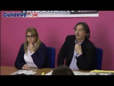 Conferenza stampa di  presentazione del canditato sindaco Franco Arboretti