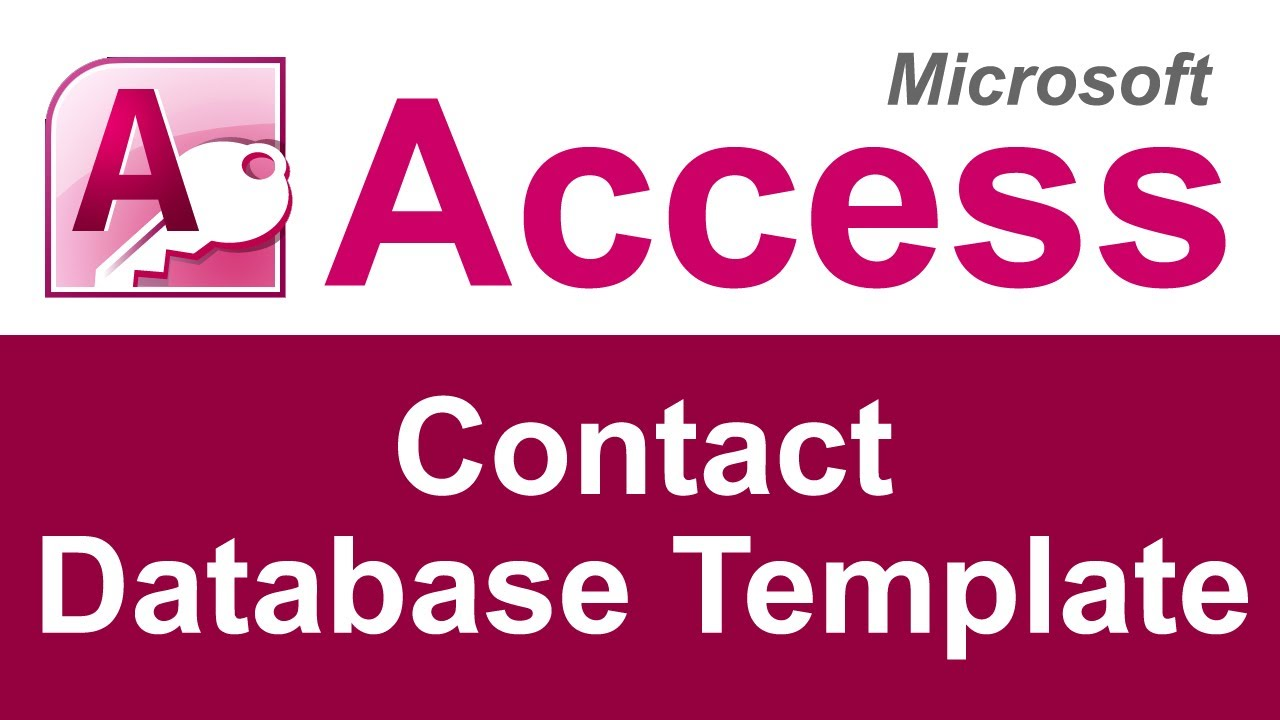 Microsoft Access Contact Database Template Youtube