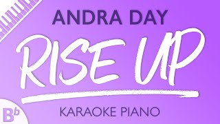 Rise Up Lower Key Of Bb Piano Karaoke Instrumental Andra Day