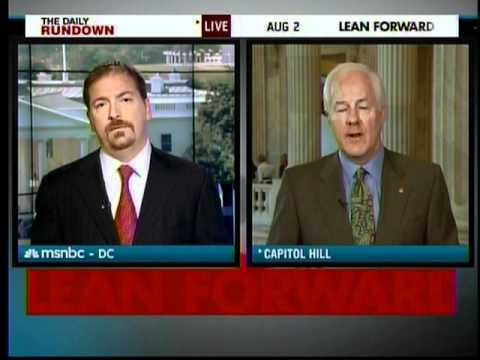 Sen. Cornyn on MSNBC's Daily Rundown previews debt ceiling vote 8-2