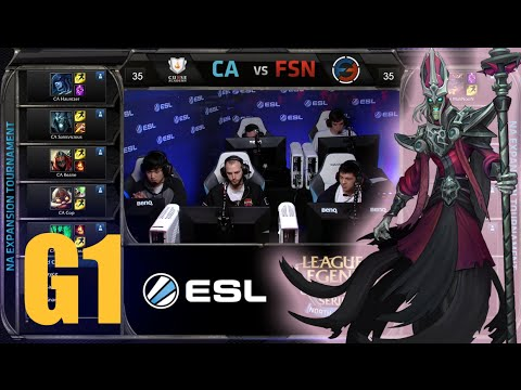 Curse Academy vs Team Fusion  | Game 1 Round 2 NA LCS Expansion Tournament | CA vs FSN G1 60FPS