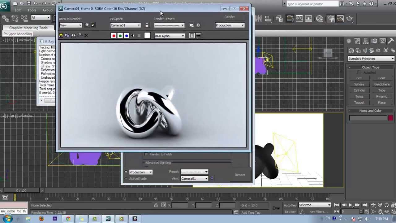 3d Max V Ray Realistic Chrome Material Set Up Tutorial