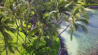 RELAXING DRONE FOOTAGE OF HAWAII OCEAN