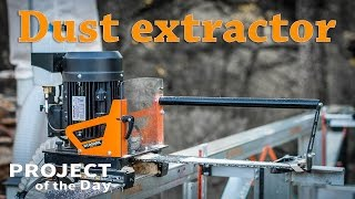 Test dust extractor for portable sawmill