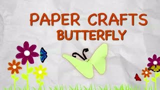 Easy Origami ButterFly for kids|Paper Folding Crafts for Kids Fun|Easy Origami Activities Toddlers