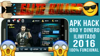 ELITE KILLER MOD APK DINERO Y ORO INFINITO ULTIMA (VERSION 2016)