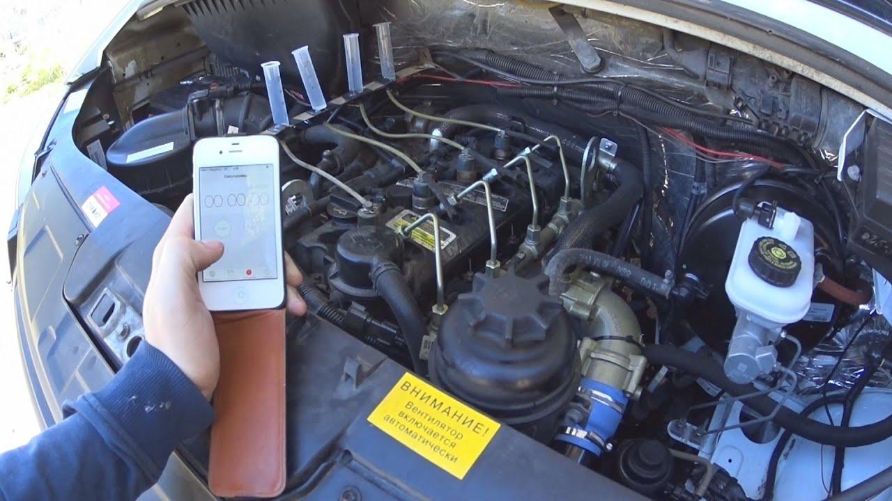 Проверка форсунок дизельного двигателя своими руками