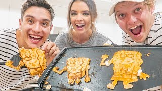 HILARIOUS PANCAKE ART CHALLENGE WITH OUR THIRD WHEEL