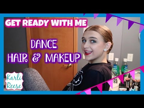 DANCE PERFORMANCE HAIR & MAKEUP ROUTINE - GET READY WITH ME