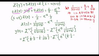 Use of Laplace transform to solve an IVP with discontinuous forcing function