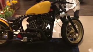 Cận cảnh chiếc Harley Davidson độ độc nhất Việt Nam.