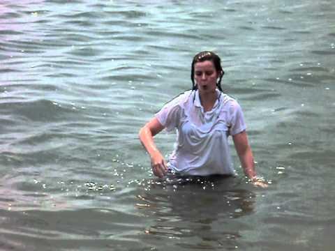 Gemma having a dip