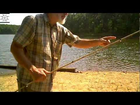 Uncle Steve Makes A Bamboo Fishing Pole