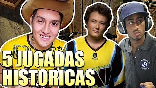 TOP 5 JUGADAS HISTORICAS DEL COUNTER-STRIKE 1.6 !!