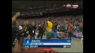 Usain Bolt 9.63 New OLYMPIC RECORD LONDON 2012 OLYMPICS (New....)