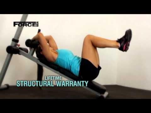 Видео: Странични стомачни вежби на коса клупа